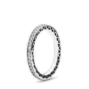 Clear CZ Hearts Ring PANDORA